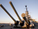 16 Inch Guns on the Battleship USS Massachusetts