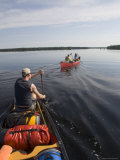 Canoeists on a Multi-Day Trip Paddle the Winisk River