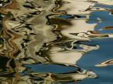 Abstract Reflections Formed by Rippling Water in a Venetian Canal  Venice  Italy