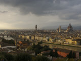 Elevated View over City from Piazzele Michelangelo  Florence  Italy