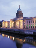 Custom House on Liffey River in Dublin  Ireland