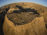 Aerial View of the Ancient Jewish Fortress  The Ruins of Masada