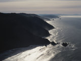 Aerial View of the Pacific Coast of Redwood National Park  California