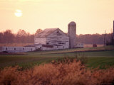 Farm in Rockville  Maryland at Sunset
