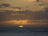 Beautiful Sunset over the Pacific Ocean  Hawaii