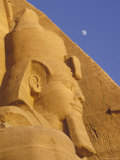 Head of a Statue Outside the Temple of Ramses II in Abu Simbel  Egypt