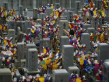 Cemetery Crowded with the Graves of Atomic Bomb Victims  Japan