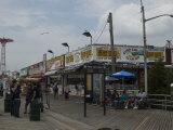 Boardwalk at Coney Island on a Cloudy Day  Brooklyn  New York