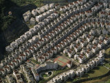 Aerial View of a Housing Development in Taipei  Taiwan