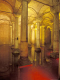 Interior of Cisterns Columns in Istanbul  Turkey