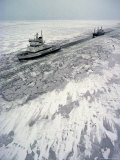 Finland  Ice-Breaker Making Way for Freighter in Northern Section of Gulf of Bothnia