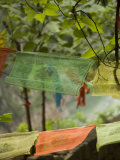 Colorful Buddhist Prayer Flags  Wushan  China
