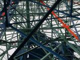 Close-Up of Ferris Wheel Mechanism  Brooklyn  New York
