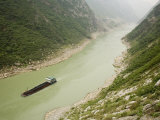 Coal Barge on the Wu River in Fuling  People's Republic of China