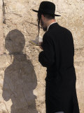 Jewish Man Prays at the Western Wall During Passover in Jerusalem  Israel