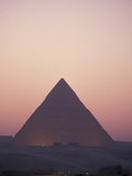 Giza Pyramids at Sunset in Egypt