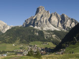 Italian Village Rimmed by Mountains in the Dolomites  Italy