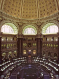 Interior of the Library of Congress  Washington  DC