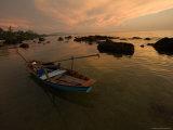 Fishing Boat Anchored Off Ong Lang Beach by Mango Bay Resort