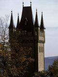 Fairytale Turret at Burg Hohenzollern Castle 1850-1867  in Bavaria