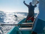 Hand Lining for Tuna in the Pacific Off the Coast of Puerto Angel  Mexico