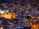 Guanajuato Lit Up at Night  Mexico