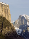 Half Dome and el Capitan from the Wawona Tunnel in Winter  Yosemite  California