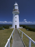 Constructed in 1848 the Cape Otway Lighthouse Faces Bass Straight  Australia