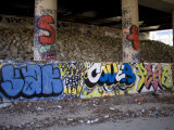 Highway Underpass Covered in Grafitti  Silver Spring  Maryland