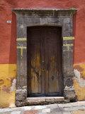 Door in a Painted Building  San Miquel de Allende  Mexico