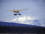 Floatplane Taking Off over the Kenai Mountains  Alaska