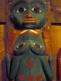 Frog and Face Totem Pole  Alaska