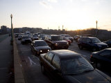 Commuter Traffic Jams the Bridge in Late Afternoon