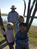 Kids Climb a Tree as their Grandpa Looks On  Washington  DC