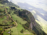 Elgoyo Escarpment with Tea Cultivation Looking E into the Rift Valley  Kenya