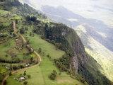 Elgoyo Escarpment with Tea Cultivation Looking E into the Rift Valley  Kenya