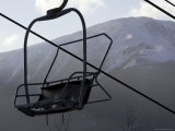 Empty Chair Lift at a Ski Resort