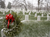 December Snow Blankets the Graves of the Fallen  Arlington  Virginia
