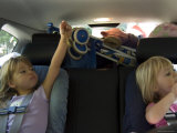 Kids Play During a Long Car Ride  Pittsburgh  Pennsylvania