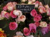 Roses Being Sold at a Market  Paris  France