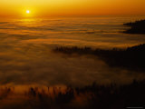 Fog at Sunset on Northern California Coast