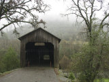 Honey Run Three-Level Covered Bridge Spanning Butte Creek  California