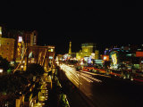 Night Scene of the Strip in Las Vegas