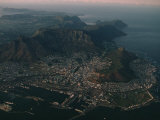 Early Morning Aerial View of Cape Town  South Africa