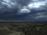 Rainy Sky over the Badlands