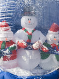 Inflatable Snowman Globe Family Close-Up  California