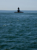 Orient Point Lighthouse Amid Dangerous Currents of Plum Gut
