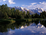 Reflection of the Teton Mountans in Snake River