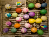 Easter Eggs Drying on a Rack  Lexington  Massachusetts