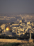 Old City of Jerusalem from Mount Scopus in Israel